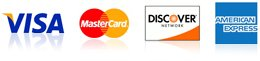 visa, mastercard, discover, and american express